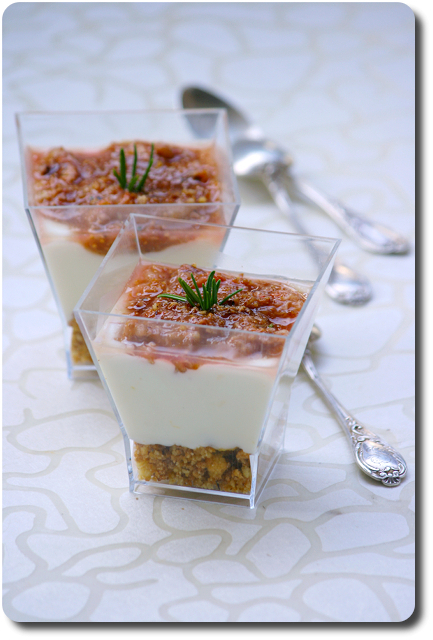 verrines fa 231 on cheesecake sans cuisson 224 la ricotta figues et noix savoirs et saveurs