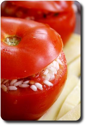 pomodori al riso tomates au riz la romaine savoirs et saveurs. Black Bedroom Furniture Sets. Home Design Ideas